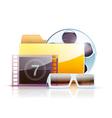 digital video folder vector image