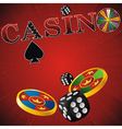 Casino red strip vector image