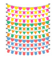 Bunting flags on a white background vector image