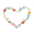 floral wreath heart isolated icon design vector image