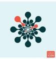 Molecule logo icon vector image