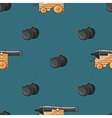 Old cannons drawings pattern vector image