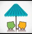 piggy under umbrella or save money concept vector image