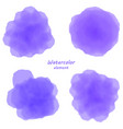 purple watercolor blotch set of purple watercolor vector image
