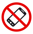 No phone sign vector image vector image