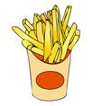 Basket of chips vector image