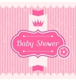 Girl baby shower invitation card vector image vector image