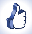 3d Thumb Up vector image