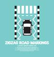Top View Of Zigzag Road Markings vector image