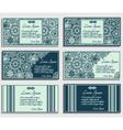 Set of blue invitation cards vector image