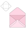 Envelope fold template vector image