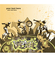 skater and biker vector image vector image