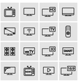 line tv icon set vector image