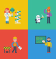 STEM characters concept vector image