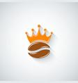 coffee bean crown menu background vector image