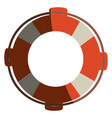 Colorful flotation hoop with rope with half shadow vector image