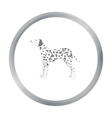 Dalmatian icon in cartoon style for web vector image