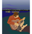 man with a guitar vector image