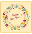 New year holiday background vector image