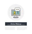 Online Webinar Icon vector image