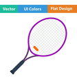 Tennis racket icon vector image