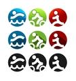 Triathlon Icons vector image