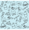 Military set pattern vector image