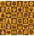 kitchenware seamless vector image vector image