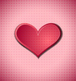 Heart on dotted surface vector image