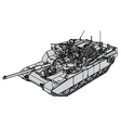 tank abrams m1 vector image