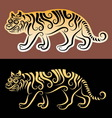 Tiger sticker vector image vector image