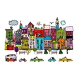 European city street sketch for your design vector image vector image