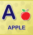 apple alphabet background vector image