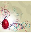 artistic egg vector image