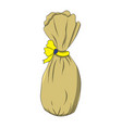 bag with a bow drawing by vector image