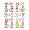 Big set cartoon avatars vector image