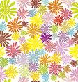 hippie flowers seamless pattern vector image