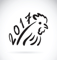 Rooster 2017 new year card year vector image vector image