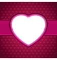 Heart Valentines day card background EPS 8 vector image