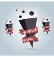 Pointer Black Friday icon Location symbol vector image