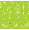 Salad vegetables seamless pattern vector image vector image
