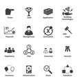 big data icon set business it strategic planning vector image