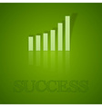 business graph up with text vector image vector image
