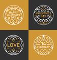 Set of Decorative Floral Circle Frames Happy vector image