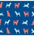 chihuahua small dog seamless pattern vector image