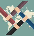 global business teamwork vector image
