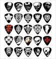 guitar skull pick set vector image