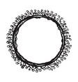 hand drawn wreath floral design vector image