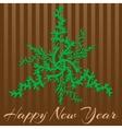 Retro stylish winter card hand-drawn snowflakes vector image