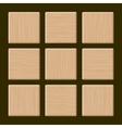Set of Blank Wood Box vector image
